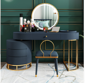 Dressing table with light modern simple small family multifunctional bedroom dressing table light luxury dressing table storage northern europe light luxury style dressing table bedroom modern simple dressing table small family european style dressing tabl
