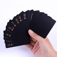Juego de cartas de plástico PVC de calidad, impermeable, regalo creativo, póker duradero, herramienta para trucos de magia clásicos, caja de magia negra pura empaquetada