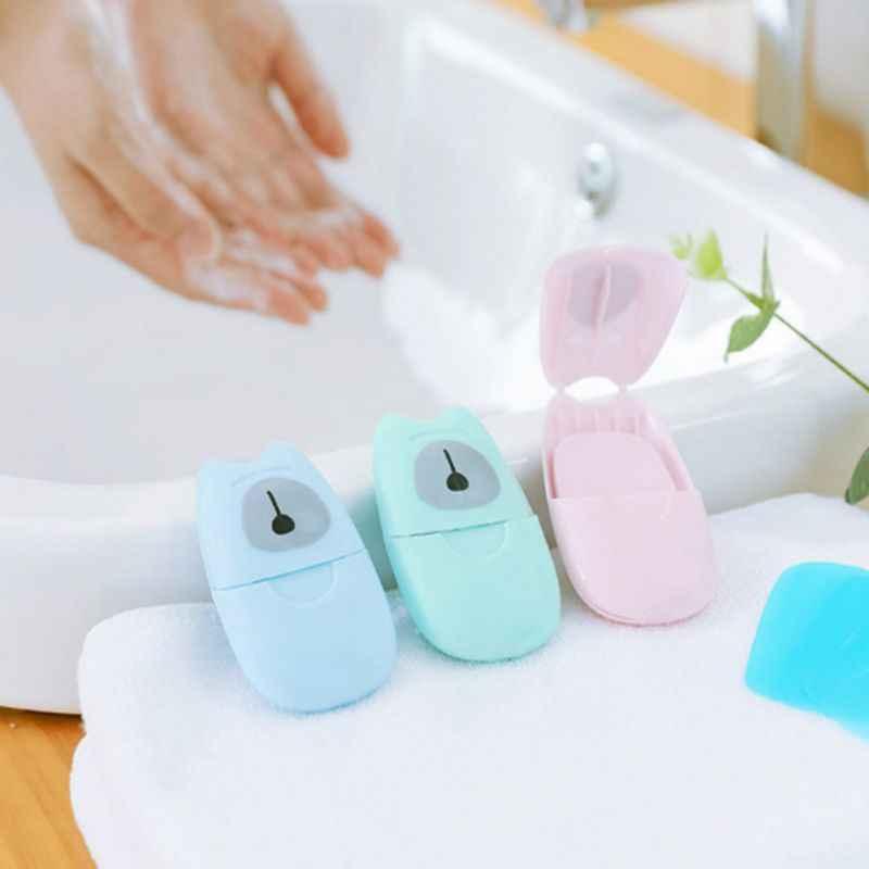 Papierowe mydło do szkła Clearning podróży przenośne mycie rąk pole pachnące plastry arkuszy papieru