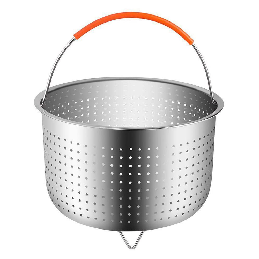 304 Stainless Steel Steamer Basket Instant Pot Accessories for 6Qt Instant Pot Pressure Cooker with Silicone