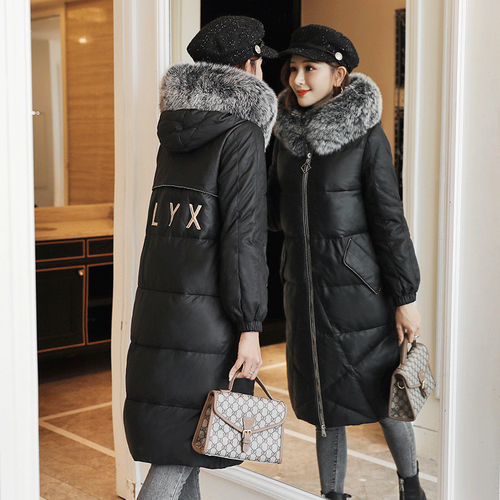 2019 Winter New Popular Wind Hooded Cap Designs Simple Elegant Personality Slim Thickening Female Casual   Down     Coats   Plus Size