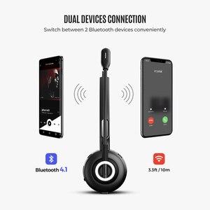Image 4 - Mpow TH1 Bluetooth אוזניות אלחוטי אוזניות עם רעש ביטול מיקרופון אילם Fucntion טעינת מזח עבור משאית נהג שיחת מרכז
