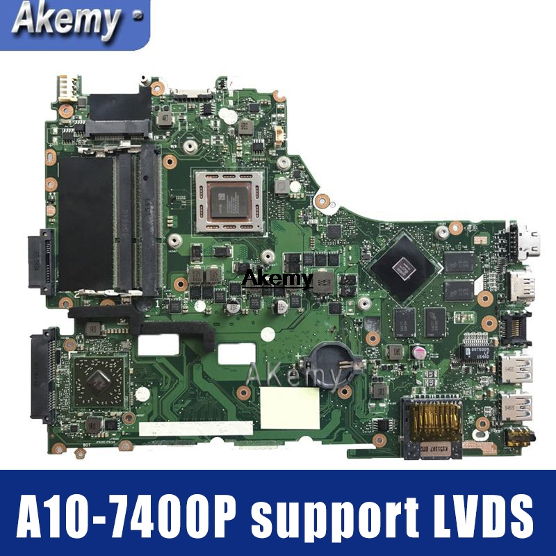 Amazoon  X550ZE For ASUS VM590Z X550ZE  Laptop Motherboard X550/X750 FX7600P/FX7500/A10-7400P Support LVDS Test Work 100%