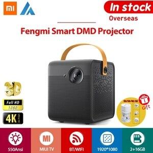 Xiaomi Fengmi Smart DMD MINI Proyector TV 1080P Full HD 4K 3D 550ANSI Amlogic T968-H 2GB 16GB bluetooth WIFI Proyector de teatro HDMI USB 200 pulgadas 1.2: 1 Auto focus 5000: 11M-3M