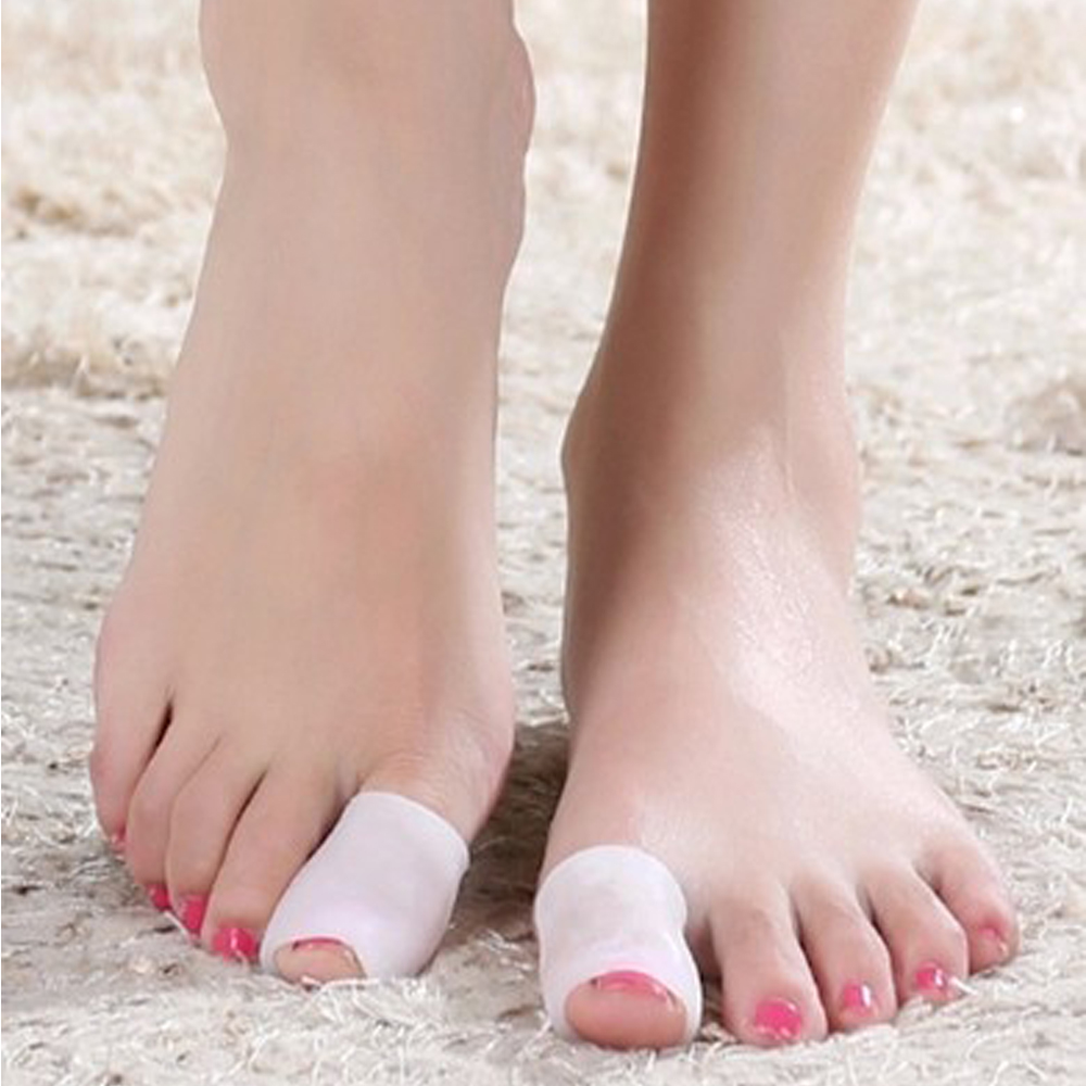 2pcs Big Toe Protector Silicone Gel Bunion Splint Pain Relief Preventing Blisters Corns Nail Tools Foot Care Toe Separators