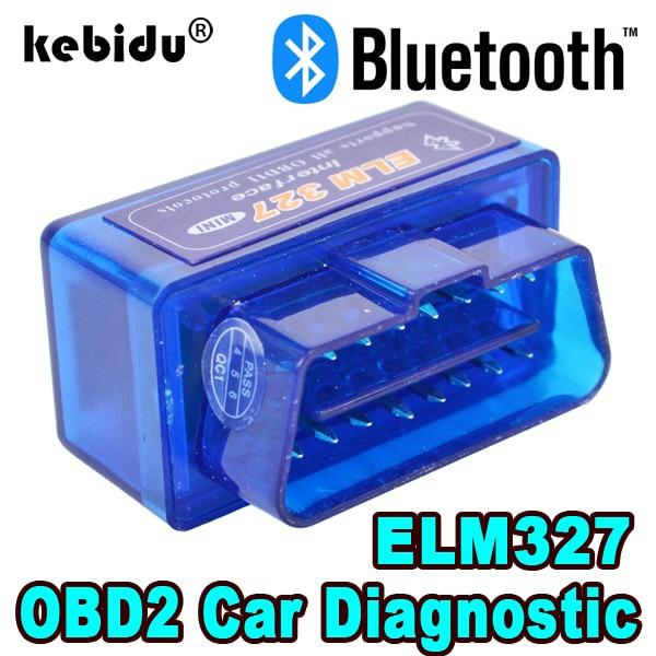 Kebidu Elm327 V2.1 Bluetooth OBD2 сканер диагностический Автомобиль Elm327 2,1 OBD 2 Elm 327 Автомобильный диагностический инструмент ODB2 автоматический сканер ада...