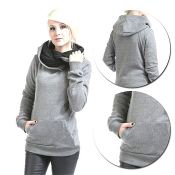 Ladies Fashion Popular High Quality New Hot Sell Top Sweatshirt Hoody Womens Long Sleeve Solid O-Neck Comfortble Plain Hoodies
