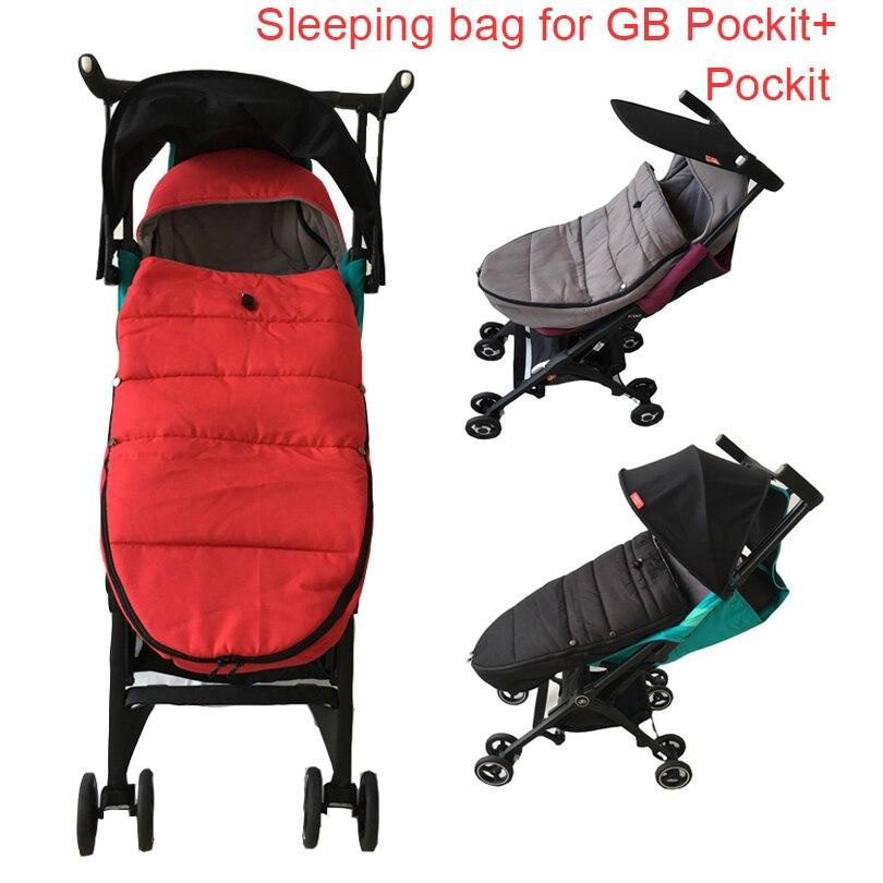 Mais quente assento almofada para gb pockit carrinho de dormir saco para goodbaby pockit + carrinho de criança acessórios à prova de vento sleepsacks