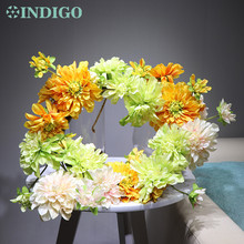 Exclusive Sales DIY- Dahlia Door Hunging Wreaths Linter Flower Spring Arrangement Wedding Party Event Free Shiping