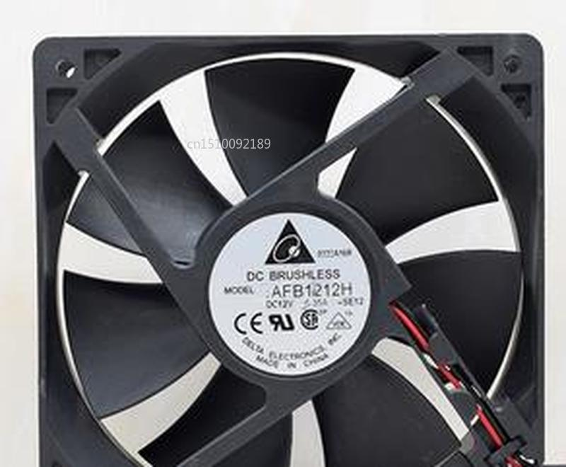 For Genuine 12cm 12025 12V 0.35A AFB1212H Three Line Wind Chassis Cooling Fan Free Shipping