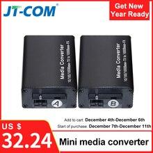 DC 5V 12V 20KM 1000M Mini Gigabit Media Converter In Fibra Ottica per RJ45 Modalità Singola switch Ethernet Ricetrasmettitore Ottico SM SC FTTH
