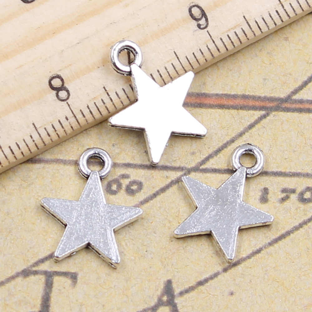 30pcs/lot Charms star 16x13mm Tibetan Silver Pendants Antique Jewelry Making DIY Handmade Craft for Bracelet Necklace