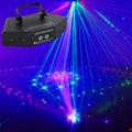 6 Eyes RGB сканер лазерный DMX512 Линейный луч + узор эффект сценическое освещение лазерное шоу Система светодиодный луч проектор для бара DJ Вечерн...