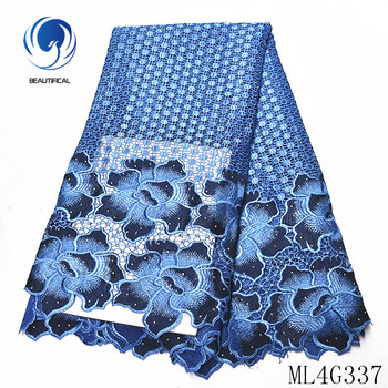 BEAUTIFICAL nigerian lace fabrics embroidery flowers guipure lace fabric with stones Top sale nigerian cord lace 5yards ML4G337