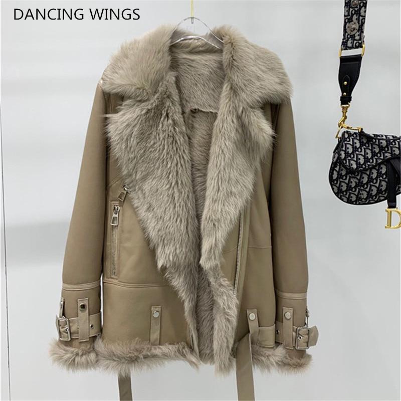 2019 réel manteau de fourrure hiver veste femmes naturel Karakul mouton doublure de fourrure véritable peau de mouton en cuir veste moto