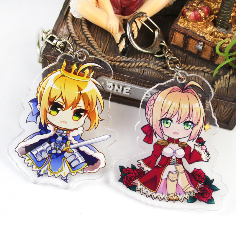 Fate grand order FGO Astolfo Saber Anime Acrylic Keychain Strap stand Figure 6CM