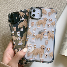 INS Animal Dog Shockproof Transparent Silicone Phone Case For IPhone 11 Pro Max XS X XR 6 6S 7 8 Plus Simple Soft TPU Back Cover 2019 simple transparent art window case for iphone x xs max xr 6 6s plus tpu soft cover for iphone 7 8 plus x case back