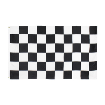 Flaglink 3x5fts 90x150cm black white square car racing checkered Flag image