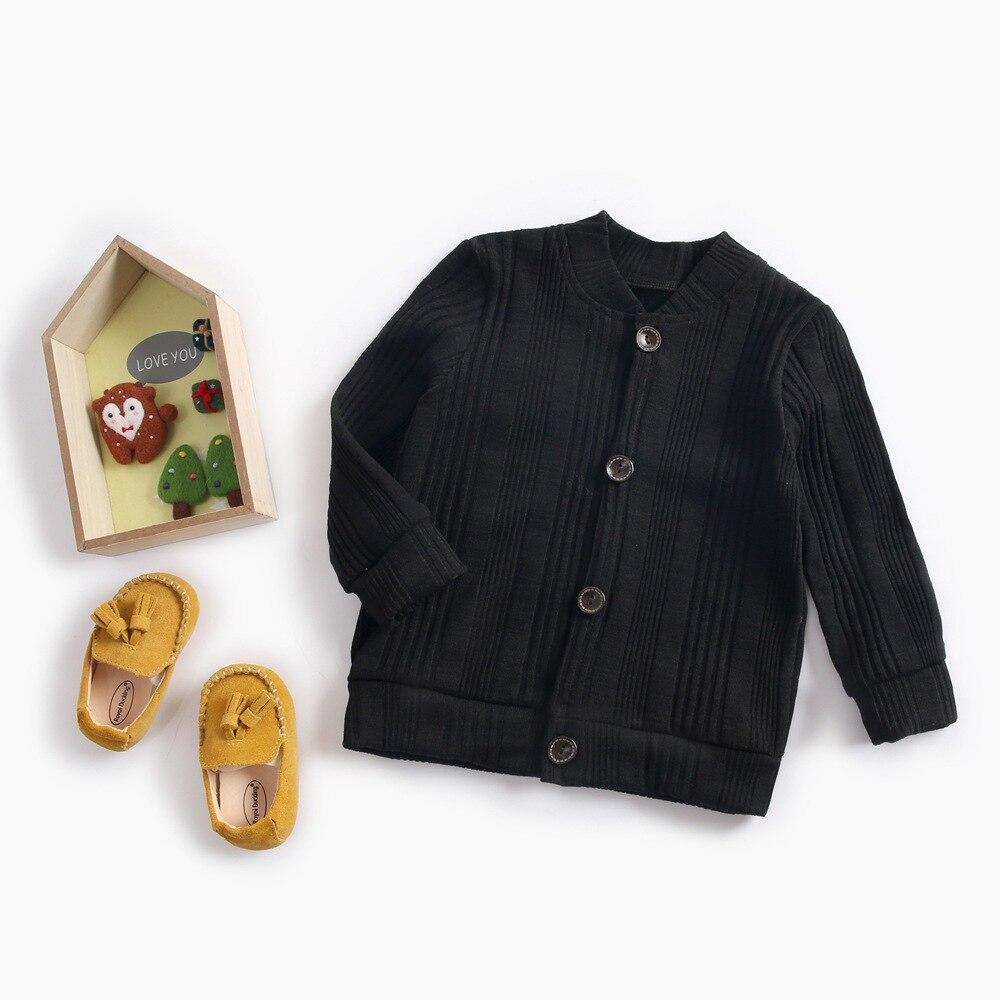 BABY'S Cardigan Small CHILDREN'S Solid Color Jacket Unisex CHILDREN'S Jacket Basic Men's Baby Sweater Autumn And Winter Children