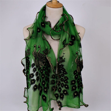 Women Long  Peacock//Magpie//Leopard Printed Scarf Wrap Shawl Stole Valentine/'s