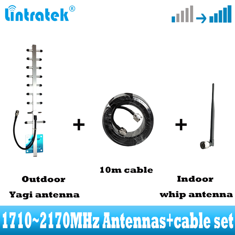 FULL Kits 1710-2170MHz GSM Repeater ! DCS 1800mhz CDMA850  for Signal Solution cell Phones Booster 65dBi amplifier