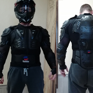 Image 5 - UPBIKE Motorcycle Jacket Armor Protection Motocross Clothing Protector Motorbike Moto Motor Bike Spine Chest Protector Gear