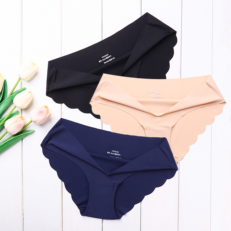 High Quality Women's Seamless Panties Solid Ultra-thin Underwear Women's Sexy Low-Rise Ruffles Briefs Lingerie Underpants New