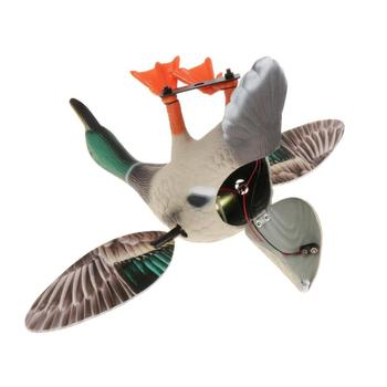 Simulation of Electric Hunting Bait Male Duck Battery-Powered 3D Wings Can Be Moved Hunting Bait Duck Supplies Remote Control 3