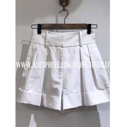 New casual comfortable elegant wild shorts women's spring summer shorts slim wide-leg A-line shorts high quality shorts