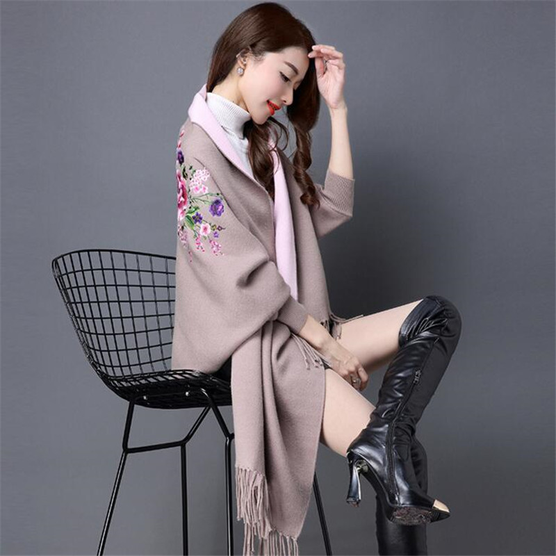 Women's Sweaters For Winter 2019 Female Wrap And Swing Leisure Long Sleeve Slim Thin Out Jacket  Long Section Tops