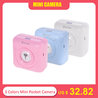 3 Colors Mini Pocket Picture Printer Photo Digital Cute Receipt Paper Print /USB Cable for Android iOS Smartphone Gifts for Kids