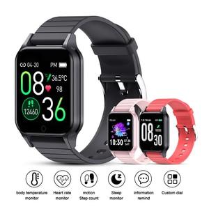 Image 4 - T96 temperatury ciała Smart Watch mężczyźni kobiety pulsometr pomiar ciśnienia krwi Bluetooth inteligentny dla Android IOS