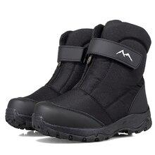 Shoes Male Snow-Boots High-Top Outdoor Men's Cotton New Warm Velvet Plus Winter Water-Resistant