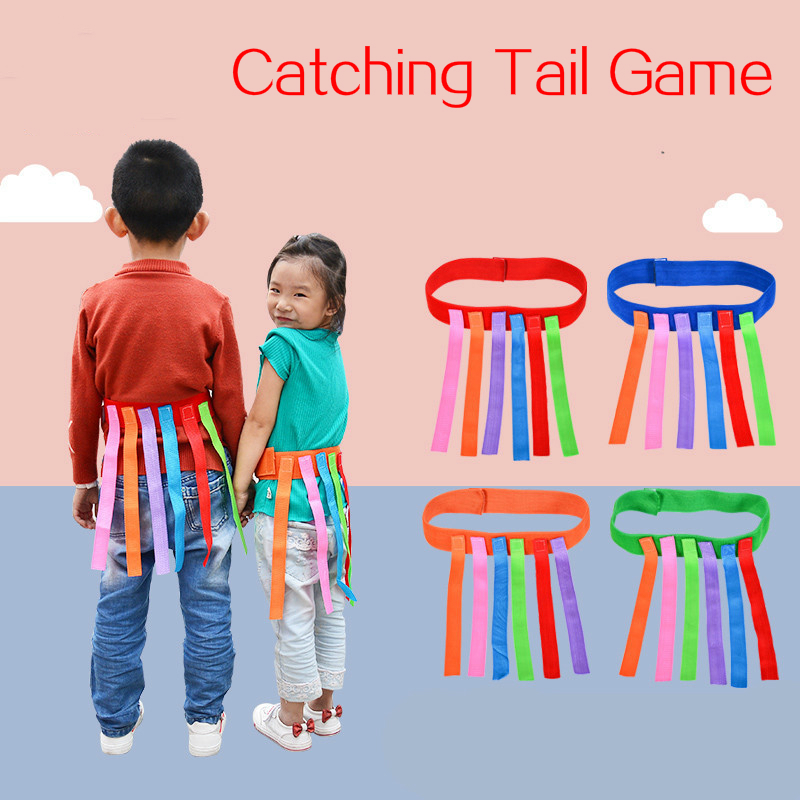 Kids Outdoor Funny Game Catching Tail Training Equipment Toys For Children Adult Kindergarten Boys Girls Teamwork Sport Game Toy