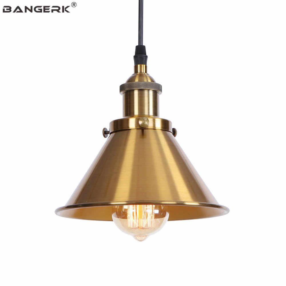 Бронзовый винтажный промышленный подвесной светильник Лофт Декор Железный Абажур Эдисона подвесной светильник ing кафе бар Домашний античный подвесной светильник