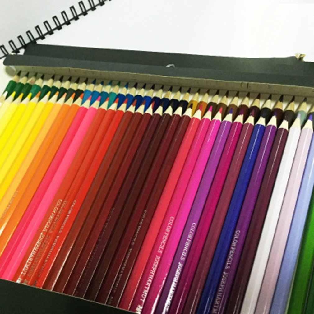 ดินสอสีเป็นมิตรกับสิ่งแวดล้อมผิวมันสีตะกั่ววาดกล่องและลำกล้อง 12/18/24/36/48/72 สี