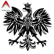 Aliauto moda etiqueta do carro polonês águia polónia símbolo auto estilo pvc decalque à prova dwaterproof água para a motocicleta kia rio audi, 15cm * 15cm