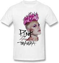 KK TSHIRT Pink Beautiful Trauma P!nk Tees Inspired Men's Fancy Funny Short Sleeved Fans T Shirt Men Harajuku Hip Hop TEE Shirt(China)