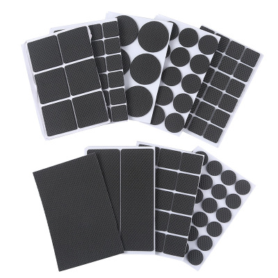 30Pcs Floor Protectors Mat Non-slip Self Adhesive Furniture Rubber Table Chair Feet Pads,Round Square Sofa Chair Leg Sticky Pad
