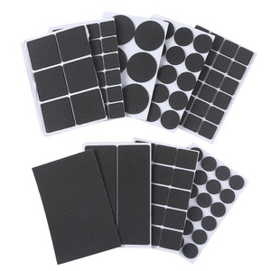 30Pcs Floor Protectors Mat Non-slip Self Adhesive Furniture Rubber Table Chair Feet Pads,Round Square Sofa Chair Leg Sticky Pad(China)