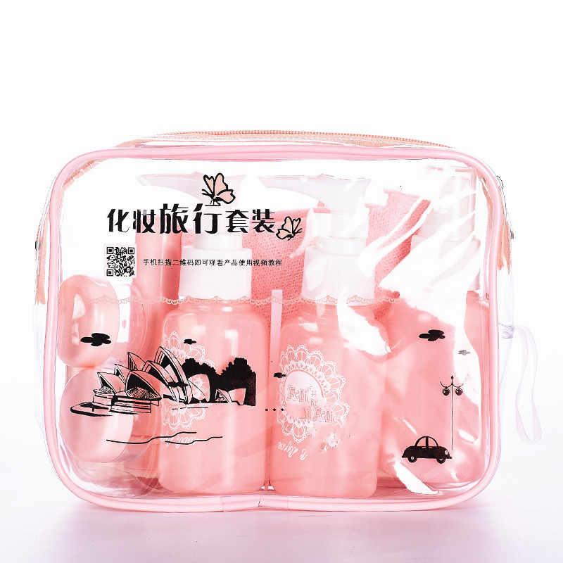 10 stk/set Make-Up Cosmetische Gezicht Crème Flessen Draagbare Transparant Lege Make Up shampoo Container Reizen Accessoires