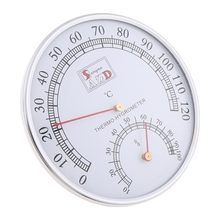 Sauna Thermometer Stainless Steel Case Steam Sauna Room Thermometer Hygrometer Bath And Sauna Indoor Outdoor Used