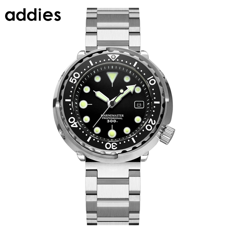 Automatic Machinery Diving Men Watch Sapphire Glass Japan Nh35a Movement tuna Retro Thousand Cans Steel Watch Relogio Masculino image