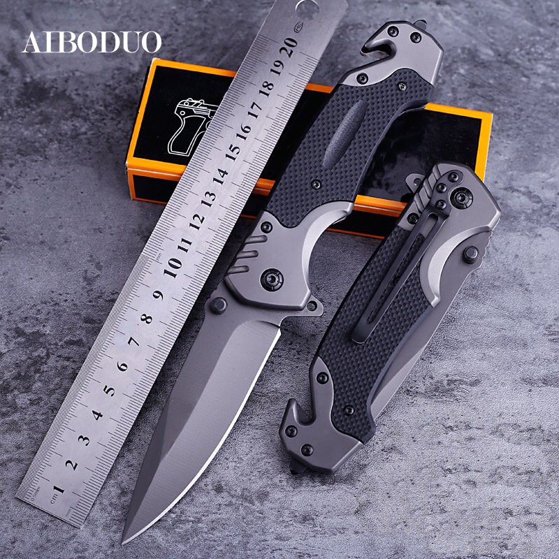 Folding Blade Knife Outdoors Tool Camp Seek Survival High Hardness Pocket Switzerland Knives Field Existence Pocket Knife