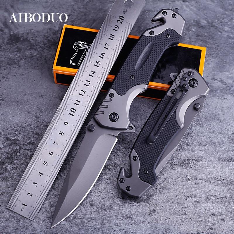 Folding Blade Knife Outdoors Tool Camp Seek Survival High Hardness Pocket Switzerland Knives Field Existence Pocket Knife