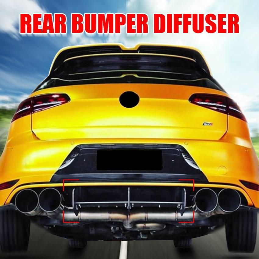 Автомобильный задний бампер диффузор спойлер защита для заднего бампера задние боковые разветвители губы для Volkswagen Golf MK7 MK7.5 GTI/ R|Амортизаторы|   | АлиЭкспресс