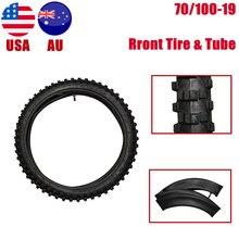"""TDPRO neumático de motocicleta + Tubo interno de 70/100 19 pulgadas, pomo delantero de nailon para Motocross, todoterreno, 2,50 19"""""""
