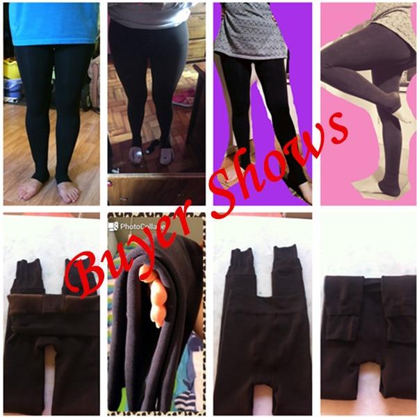 Hc80a359c6aa14191a489c6eba09017b0f CHRLEISURE Warm Women's Plus Velvet Winter Leggings Ankle-Length Keep Warm Solid Pants High Waist Large Size Women Leggings