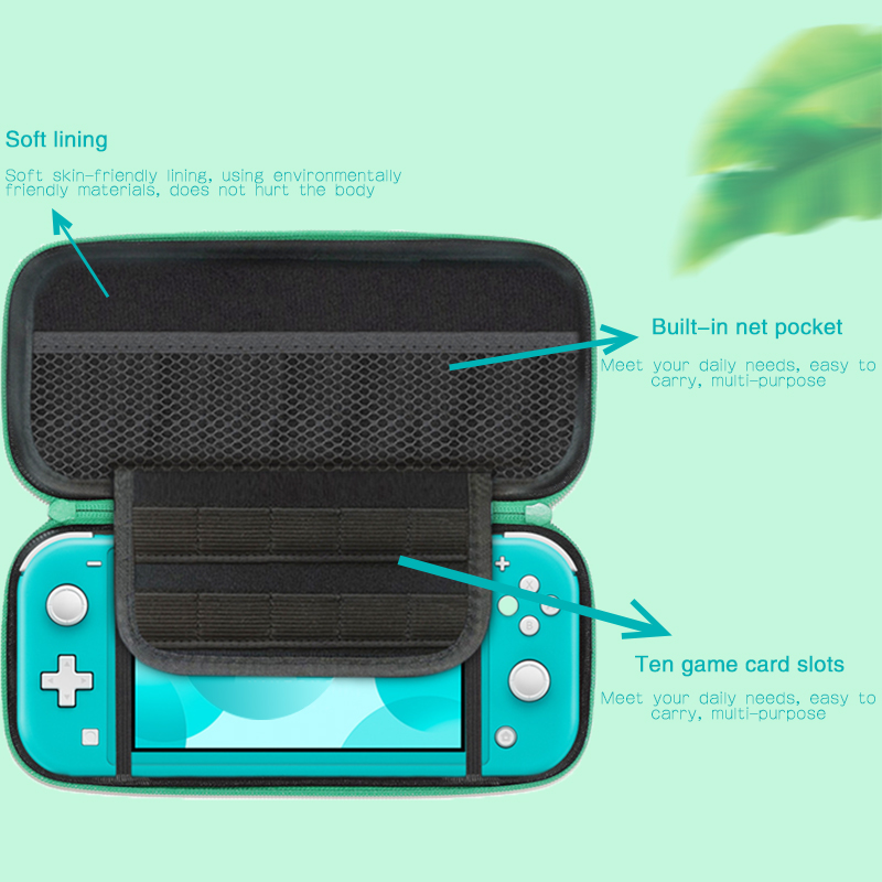 cheapest DATA FROG Animal Portable Travel Carrying Case For Nintendo Switch Lite Console Storage Bag For NS Lite Accessories