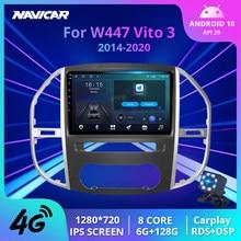 2Din Android10 Auto Radio Für Mercedes Benz W447 Vito 3 2014-2020 Stereo Empfänger GPS Navigation Auto Empfänger DSP auto Radio IGO